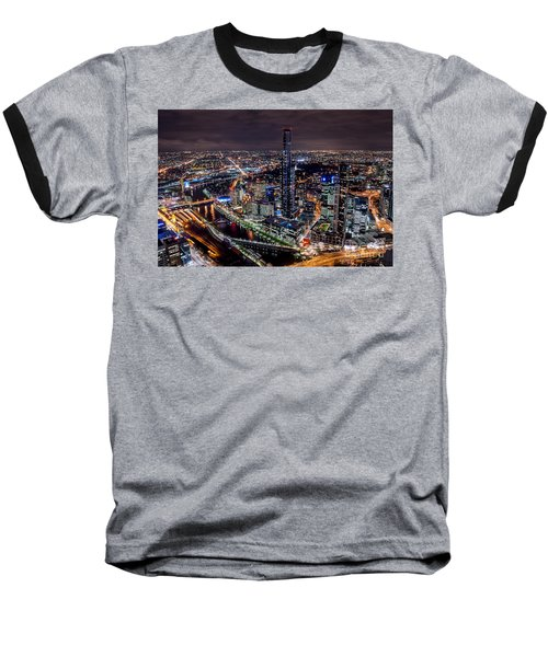 Melbourne At Night IIi Baseball T-Shirt