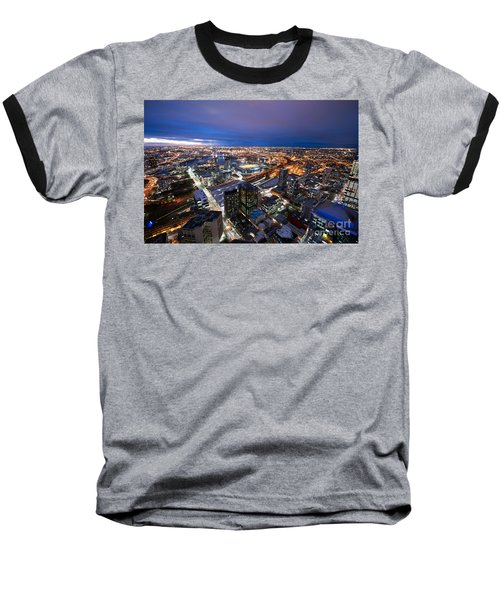 Melbourne At Night Baseball T-Shirt