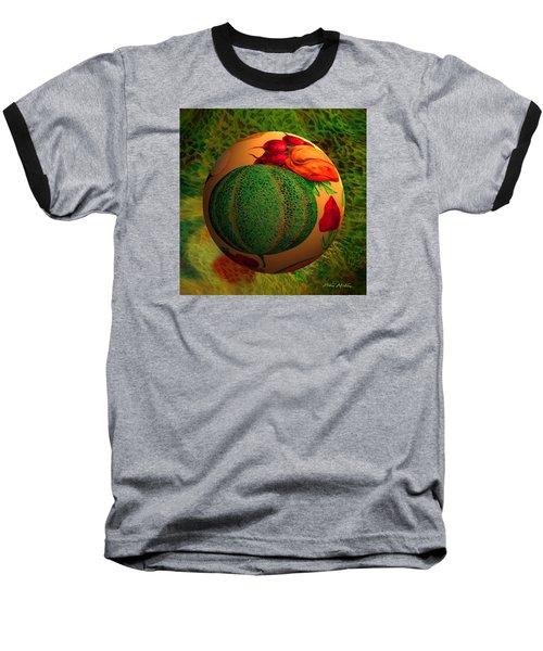Baseball T-Shirt featuring the digital art Melon Ball  by Robin Moline