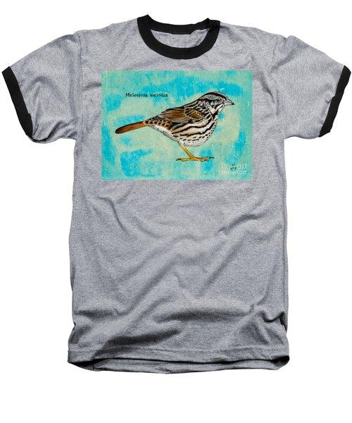 Melospiza Melodia Baseball T-Shirt