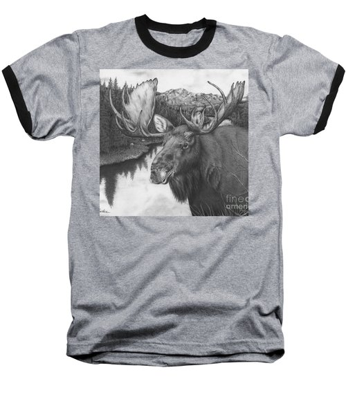 Melozi River Moose Baseball T-Shirt