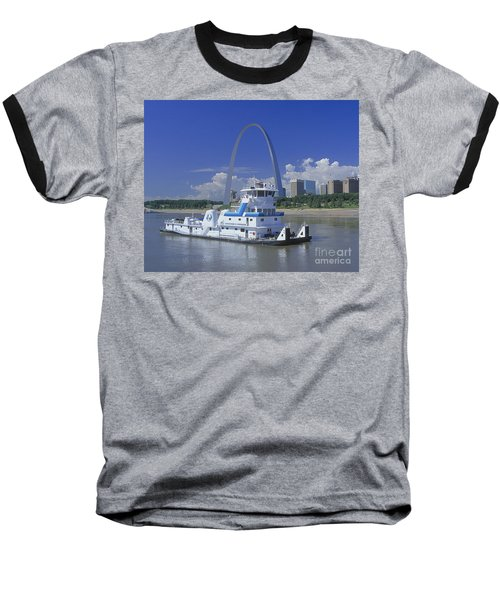 Memco Towboat In St Louis Baseball T-Shirt by Garry McMichael