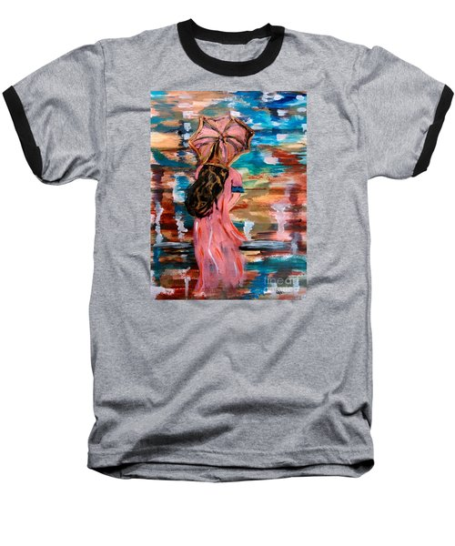 Baseball T-Shirt featuring the painting Memories by Lori  Lovetere