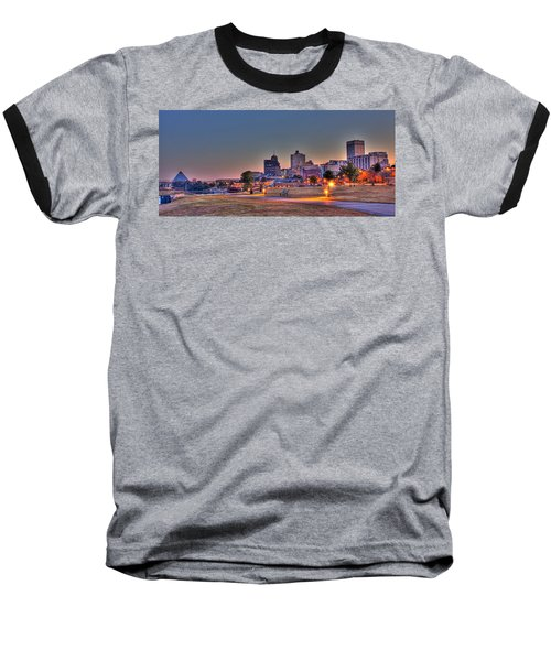 Cityscape - Skyline - Memphis At Dawn Baseball T-Shirt