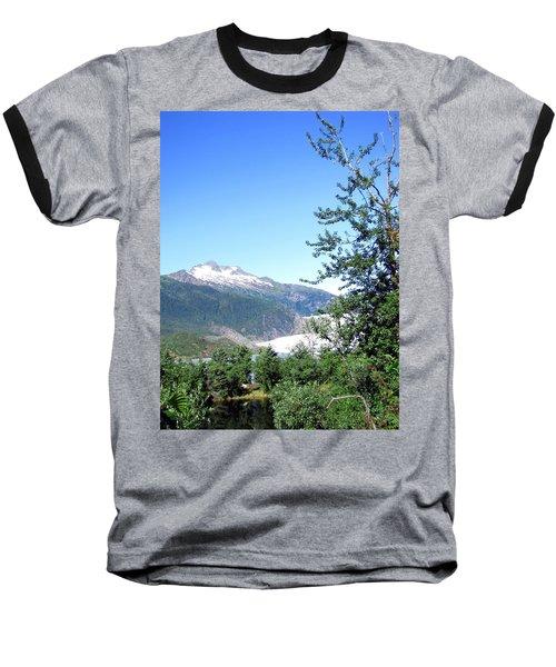 Baseball T-Shirt featuring the photograph Mendenhall Glacier by Jennifer Wheatley Wolf