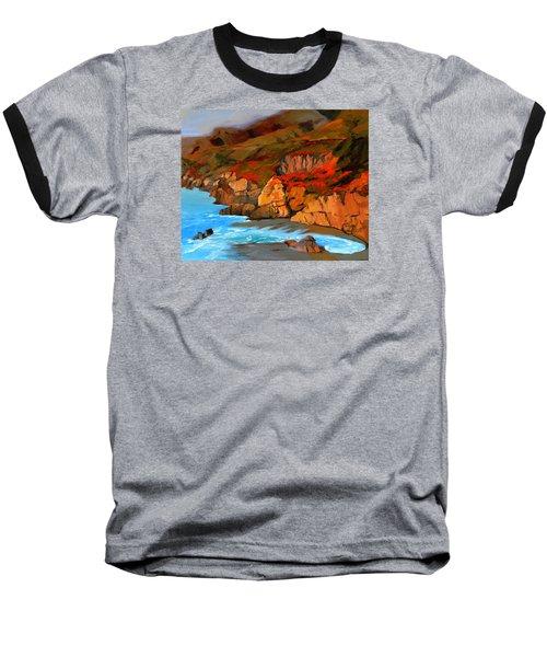 Mendocino Coast Baseball T-Shirt by Alice Leggett