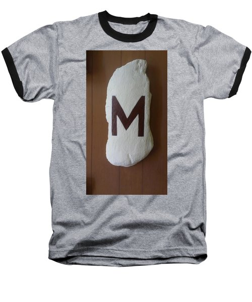 Baseball T-Shirt featuring the painting Menominee Maroons by Jonathon Hansen