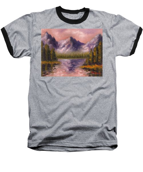 Baseball T-Shirt featuring the painting Mental Mountain by Jason Williamson