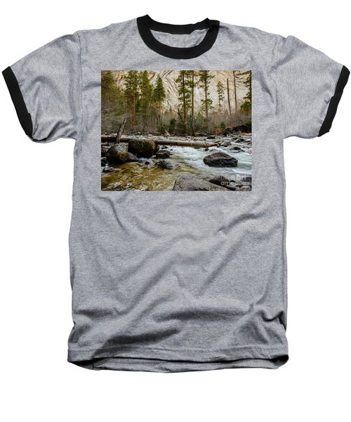 Merced River From Happy Isles 2 Baseball T-Shirt