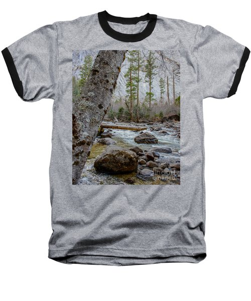 Merced River From Happy Isles Baseball T-Shirt