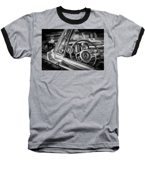 Mercedes-benz 250 Se Steering Wheel Emblem Baseball T-Shirt by Jill Reger