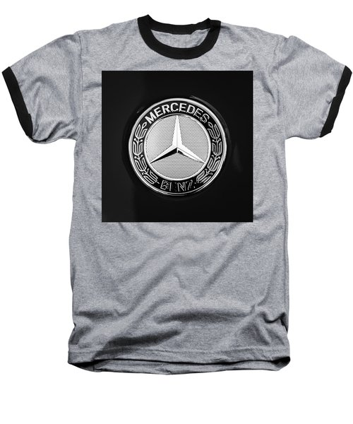 Mercedes-benz 6.3 Gullwing Emblem Baseball T-Shirt by Jill Reger