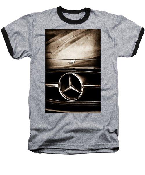 Mercedes-benz Grille Emblem Baseball T-Shirt by Jill Reger