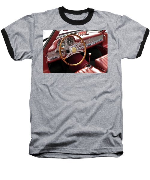 Mercedes Benz Gullwing 1956 Baseball T-Shirt by Maj Seda