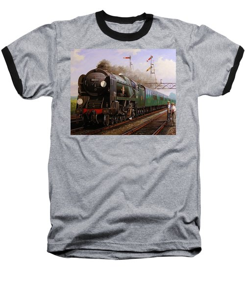 Merchant Navy Pacific At Brookwood. Baseball T-Shirt