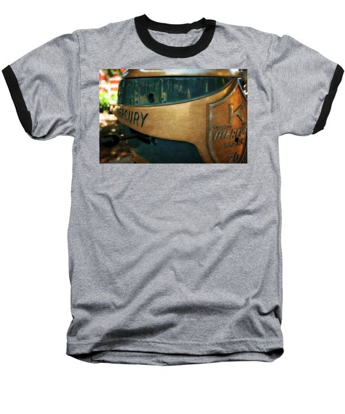 Mercury Mark 20 Outboard Motor Baseball T-Shirt