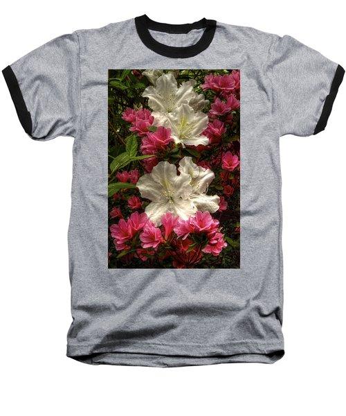 Merging Azaleas  Baseball T-Shirt
