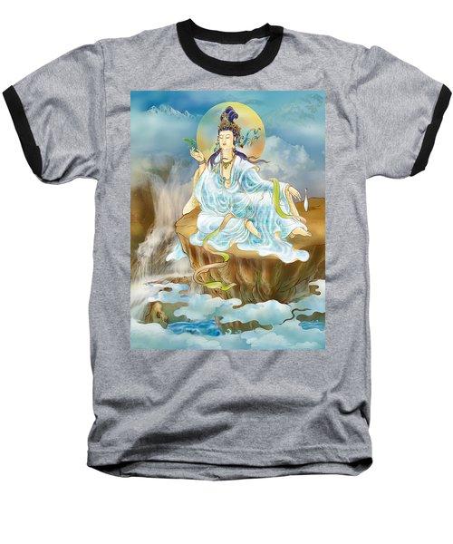 Merit King Kuan Yin Baseball T-Shirt by Lanjee Chee