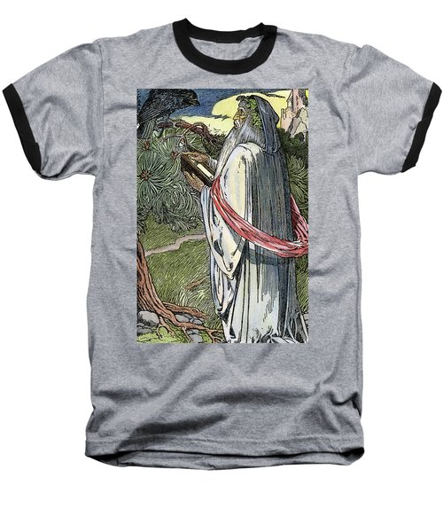 Baseball T-Shirt featuring the drawing Merlin The Magician, 1923 by Granger