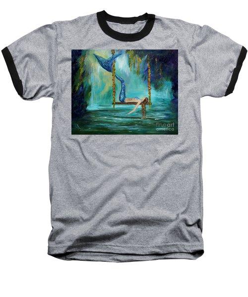 Mermaids Lazy Lagoon Baseball T-Shirt