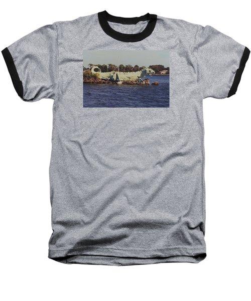 Merritt Island River Dragon Baseball T-Shirt by Bradford Martin