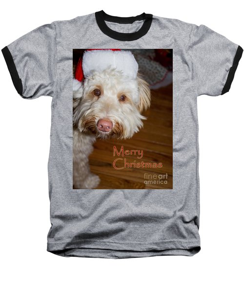 Merry Christmas From A Labrdoodle Card Baseball T-Shirt