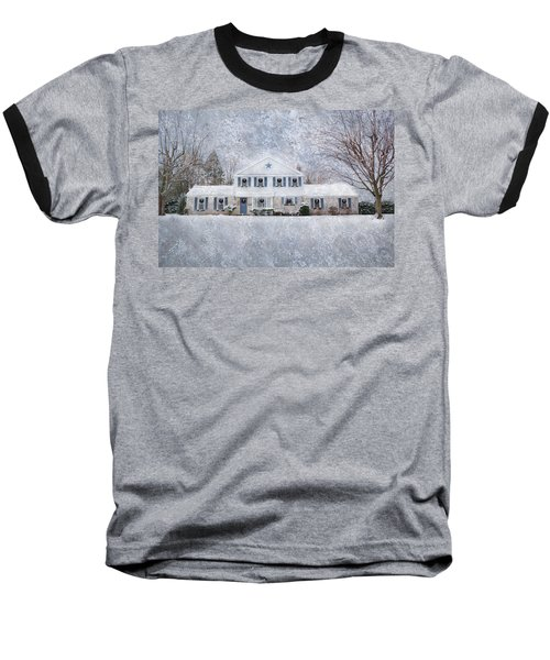 Wintry Holiday Baseball T-Shirt