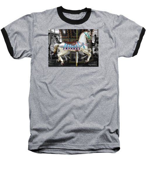 Merry Go Round Baseball T-Shirt by Colleen Kammerer