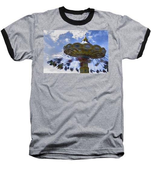 Merry Go Round Swings Baseball T-Shirt by Ralph Vazquez