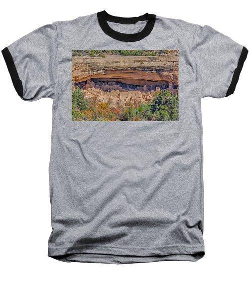 Mesa Verde Cliff Dwelling Baseball T-Shirt by Paul Freidlund
