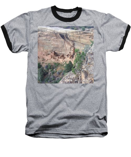 Baseball T-Shirt featuring the photograph Mesa Verde Colorado Cliff Dwellings 1 by Richard W Linford