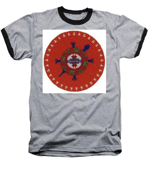 Meskwaki Orange Baseball T-Shirt