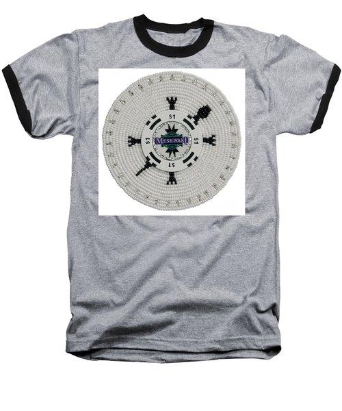 Meskwaki White Baseball T-Shirt