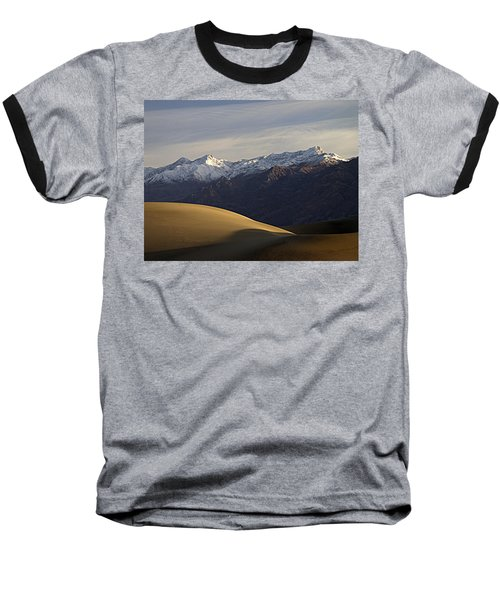 Mesquite Dunes And Grapevine Range Baseball T-Shirt by Joe Schofield