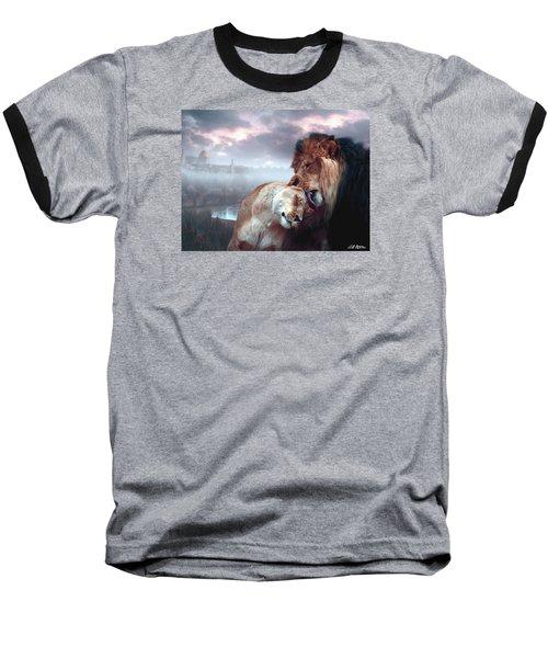 Yeshua Loves Israel Baseball T-Shirt by Bill Stephens
