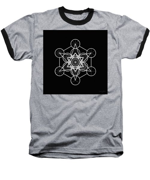 Metatron Wheel Cube Baseball T-Shirt