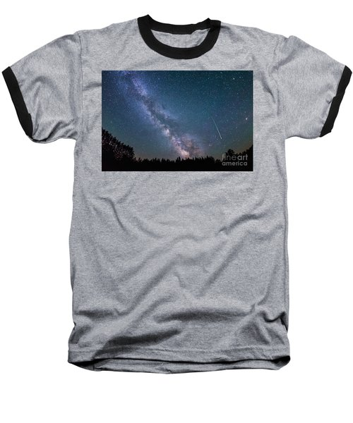 Meteor Milky Way  Baseball T-Shirt