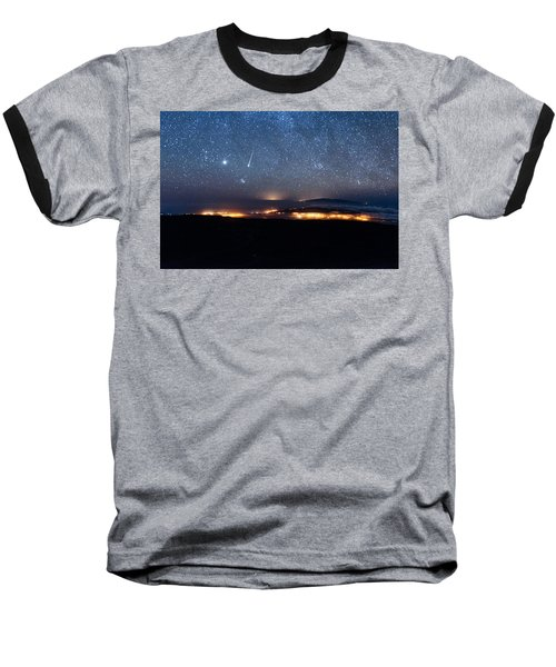 Meteor Over The Big Island Baseball T-Shirt