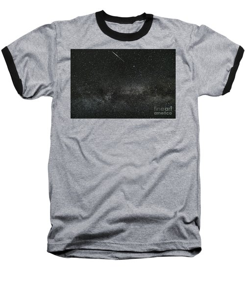 Meteor With The Milky Way Baseball T-Shirt by Patrick Fennell