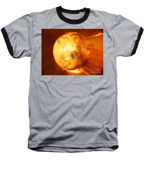 Meteoric Onion Baseball T-Shirt by Brian Boyle