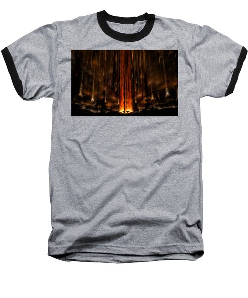 Meteors Baseball T-Shirt by GJ Blackman
