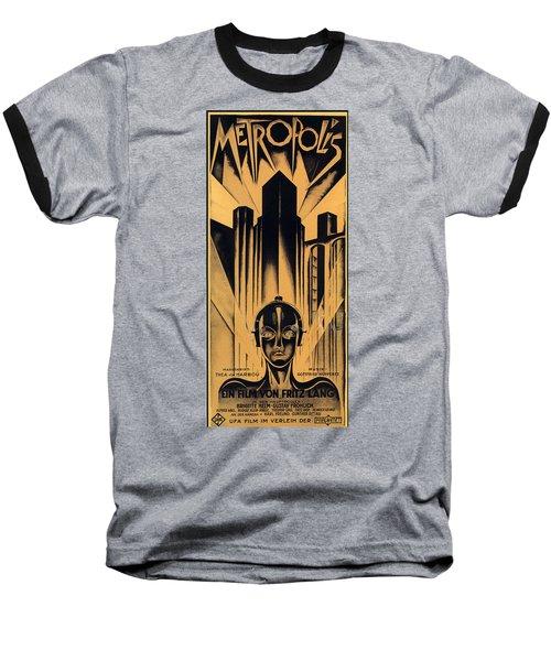 Metropolis Poster Baseball T-Shirt