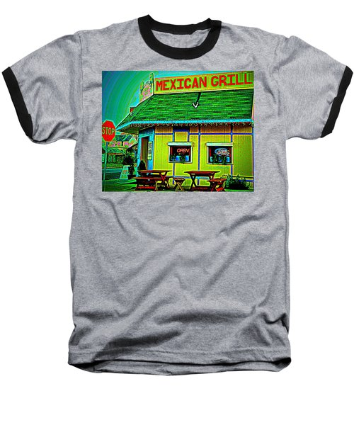 Mexican Grill Baseball T-Shirt