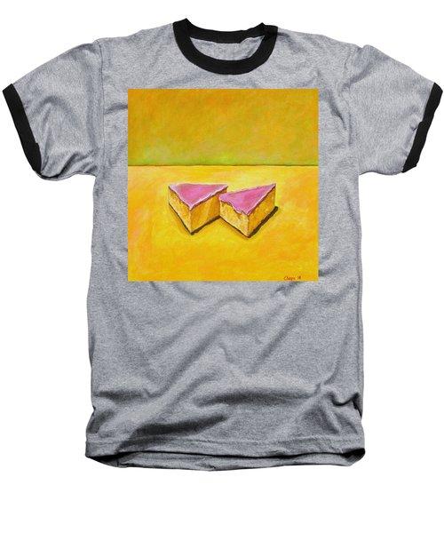 Mexican Pink Cake Baseball T-Shirt by Manny Chapa