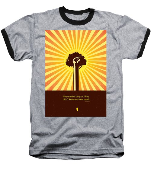 Mexican Proverb Minimalist Poster Baseball T-Shirt
