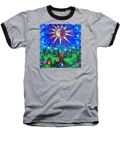 Mexican Retablos Prayer Board Small Baseball T-Shirt by Genevieve Esson
