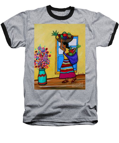 Mexican Street Vendor Baseball T-Shirt