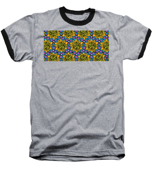 Baseball T-Shirt featuring the digital art Mexican Sun / African Violet by Elizabeth McTaggart