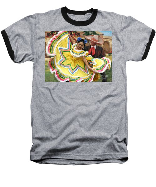 Mexicanhatdance Baseball T-Shirt by Tim Gilliland