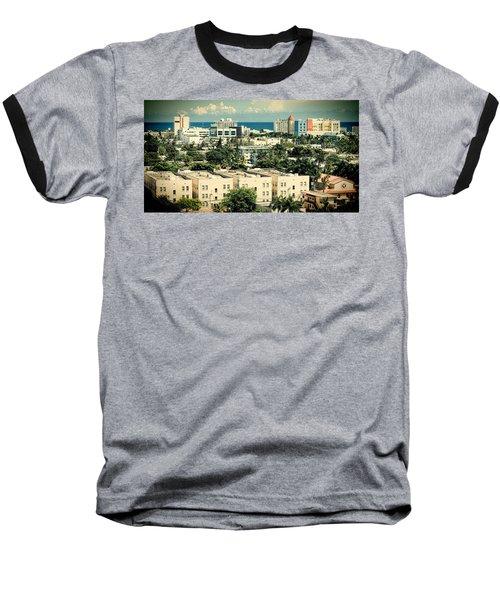 Miami Beach-0156 Baseball T-Shirt